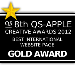 8th QS-APPLE CREATIVE AWARD 2012 : BEST INTERNATIONAL WEBSITE PAGE GOLD AWARD