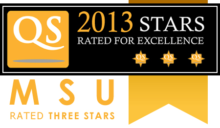 Mahasarakham University rated THREE STARS