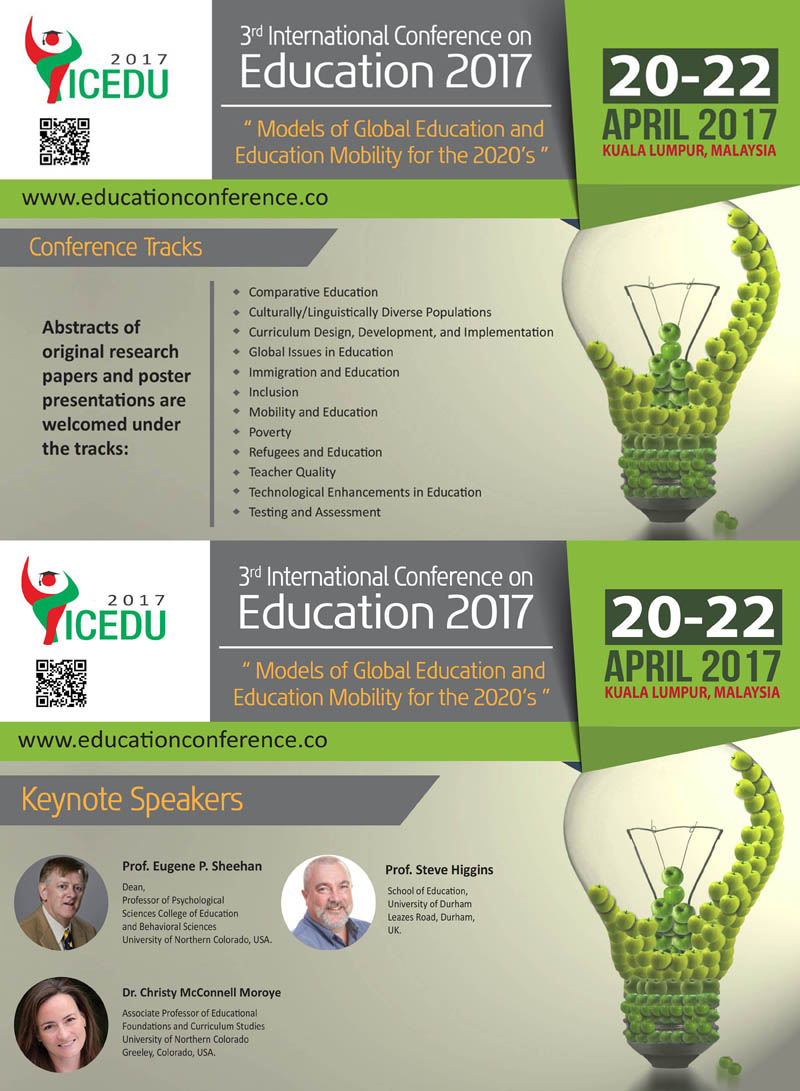 Call for paper – The 3rd International Conference on Education 2017