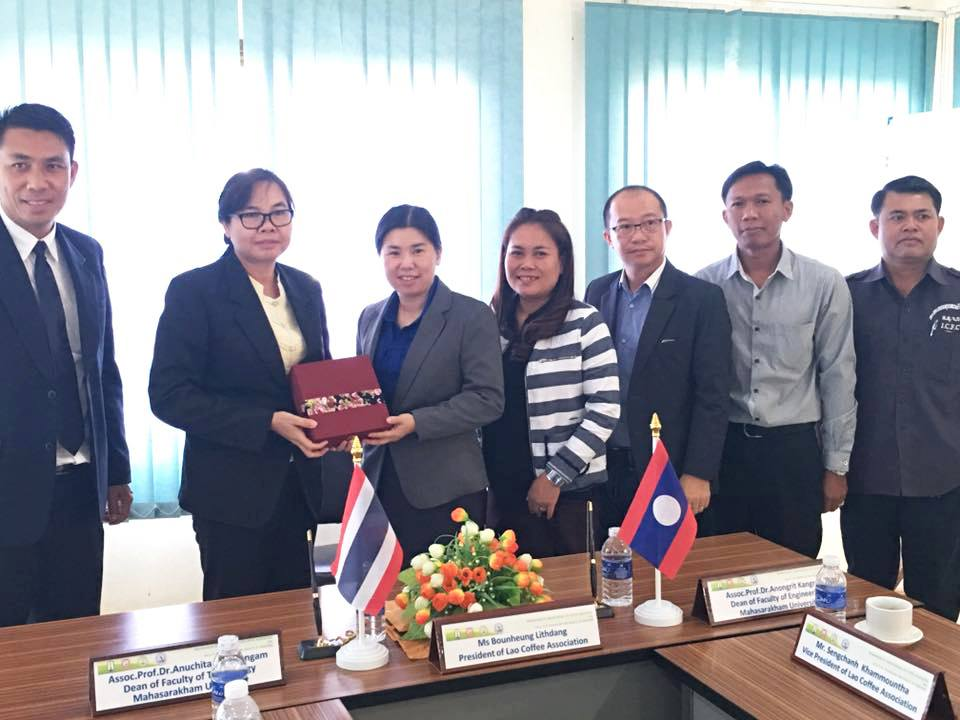 MoU Signing Ceremony between Mahasarakham University and Lao Coffee Association
