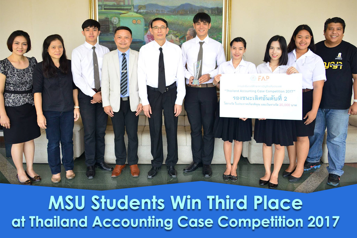 MSU Students Win Third Place at Thailand Accounting Case Competition 2017
