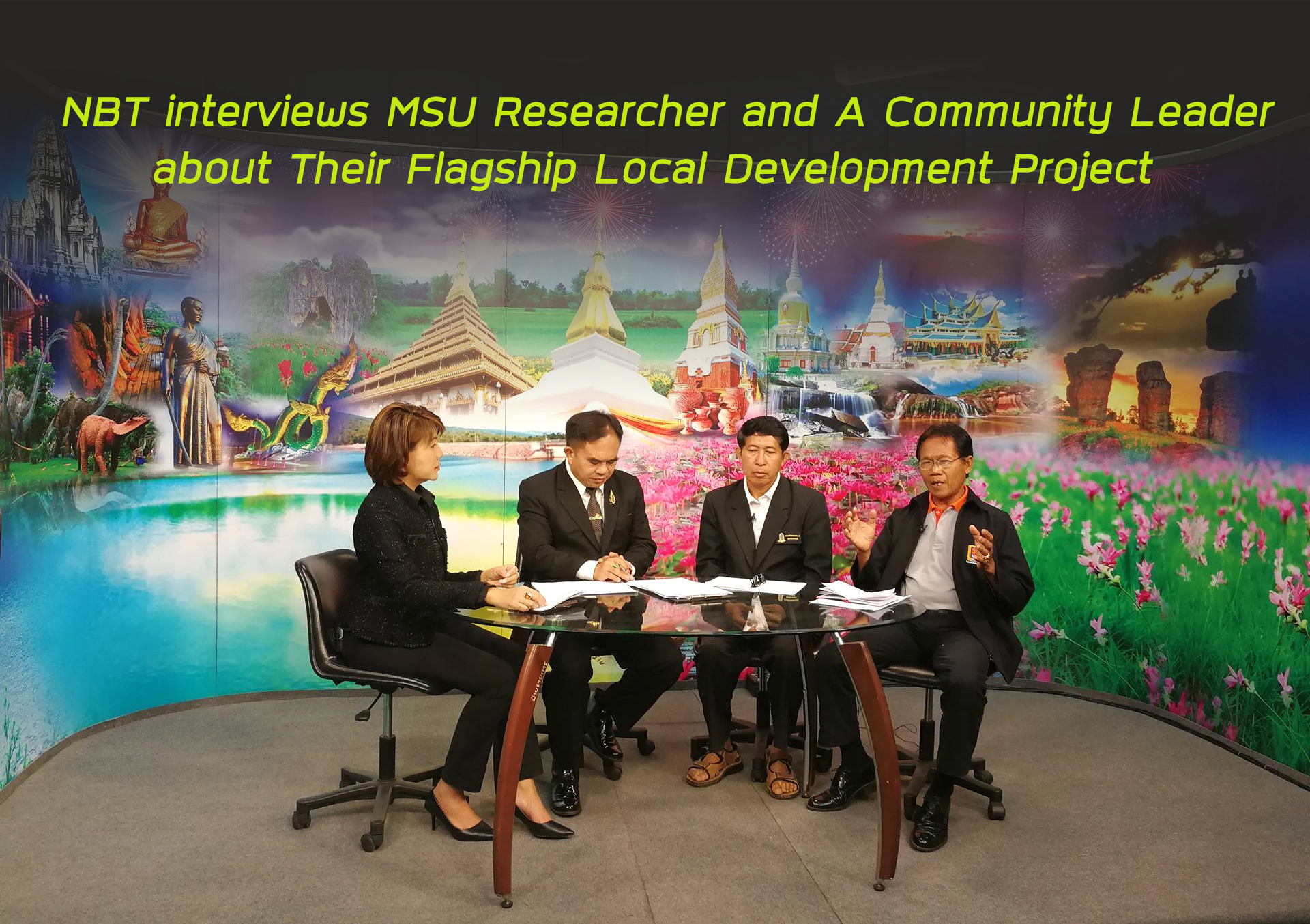 NBT interviews MSU Researcher and A Community Leader about Their Flagship Local Development Project