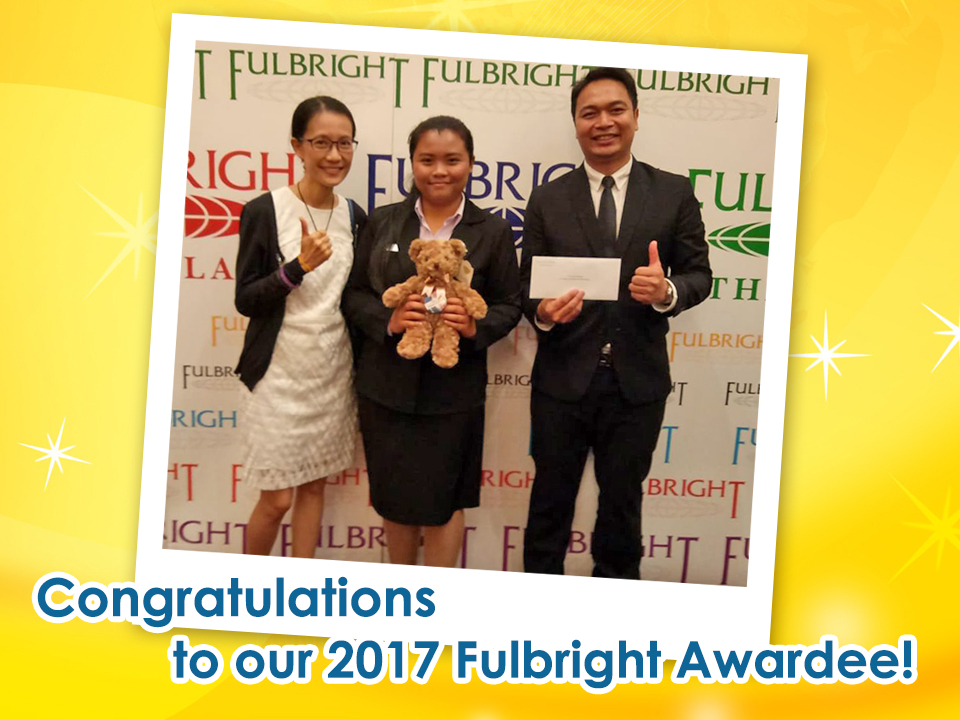 Congratulations to our 2017 Fulbright Awardee!
