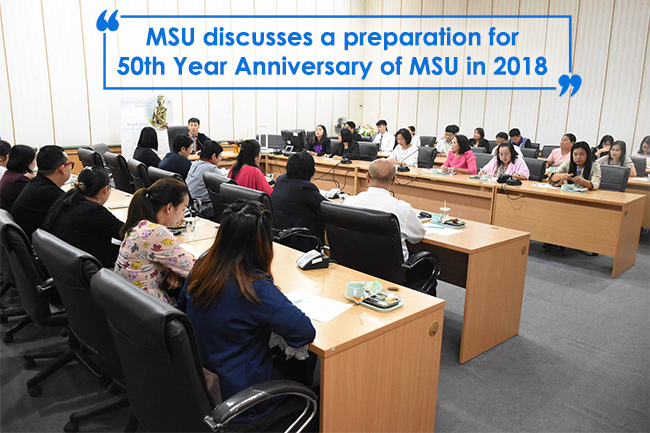 MSU discusses a preparation for 50th Year Anniversary of MSU in 2018