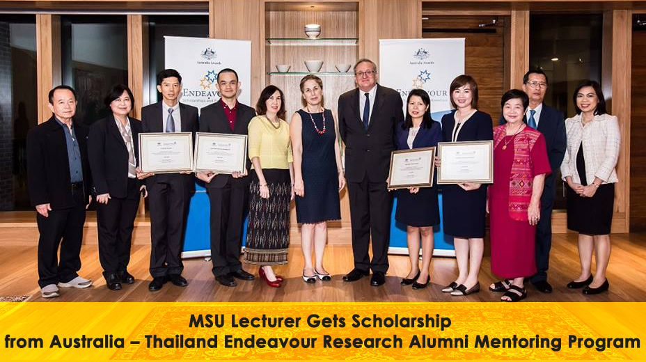MSU Lecturer Gets Scholarship from Australia – Thailand Endeavour Research Alumni Mentoring Program