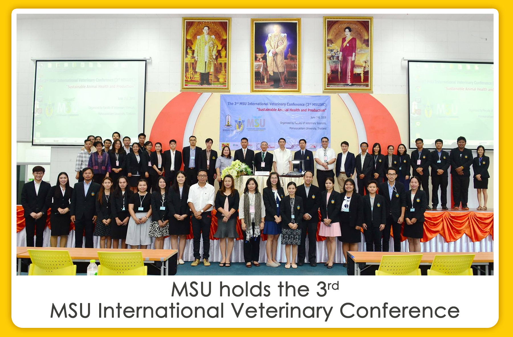 MSU holds the 3rd MSU International Veterinary Conference