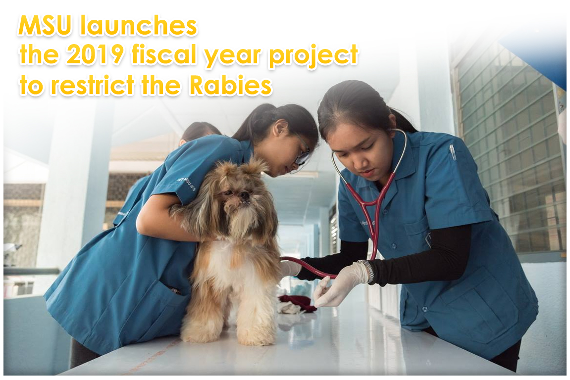 MSU launches the 2019 fiscal year project to restrict the Rabies