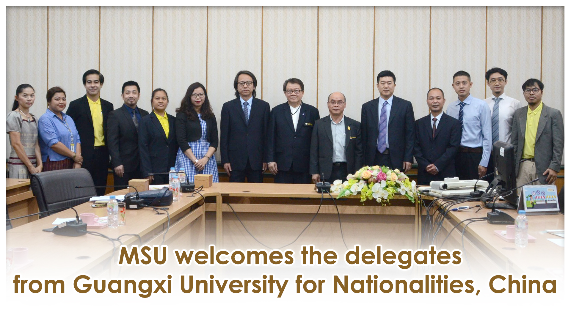 MSU welcomes the delegates from Guangxi University for Nationalities, China