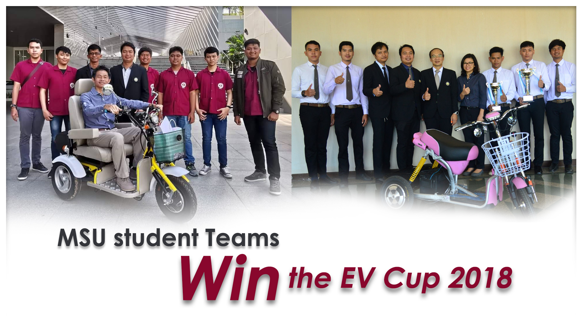 MSU student Teams win the EV Cup 2018