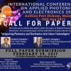 Call For Paper: International Conference on Applied Photonics and Electronics 2017  (InCAPE2017)