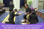 MSU Administrators and Students had Royal Audience with HRH Princess Maha Chakri Sirindhorn