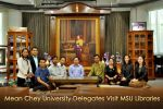 Mean Chey University Delegates Visit MSU Libraries