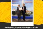 MSU Tourism and Hotel Management Lecturer Wins the Best Paper Award