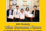 MSU Students wins Second Place in Digital Media Innovation Contest.