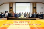 MSU Welcomes Ambassador of the Royal Bhutanese Embassy