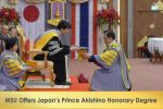 MSU Offers Japan's Prince Akishino Honorary Degree