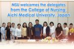 MSU welcomes the delegates from the College of Nursing, Aichi Medical University, Japan