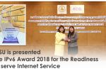 MSU is presented the IPv6 Award 2018 for the Readiness to serve Internet Service