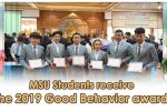 MSU Students receive the 2019 Good Behavior award