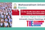 Mahasarakham University ranks the 1st on the Quality Education Indicator among Thai Universities in Times Higher Education University Impact Rankings 2019
