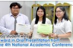 MSU student wins award in Oral Presentation from the 4th National Academic Conference