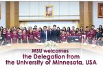 MSU welcomes the Delegation from the University of Minnesota, USA.