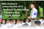 MSU student is presented the 2019 National Outstanding Children and Youth Award
