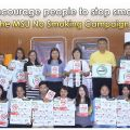 MSU encourage people to stop smoking for the MSU No Smoking Campaign