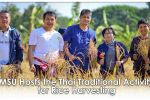 MSU Hosts the Thai Traditional Activity for Rice Harvesting