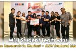 MSU Student Team wins the Research to Market – R2M Thailand 2020