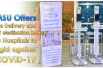 Mahasarakham University Offers the Delivery and UV sterilization Robots to Hospitals to Fight against COVID-19
