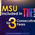 MSU Included in THE World University Rankings for 3 Consecutive Years